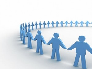 collective-intelligence-blue-people-holding-hands