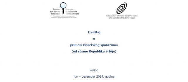 Monitoring sprovođenja Briselskog sporazuma – Izveštaj