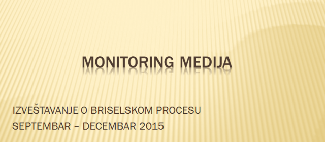 Monitoring medija na temu Briselski sporazum – mediji na srpskom KiM