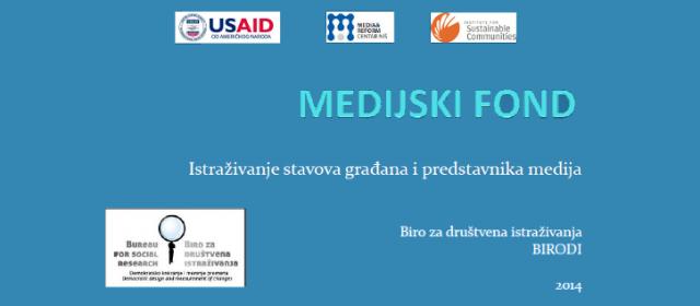 Osnivanje Medijskog fonda – Istraživanje stavova građana i predstavnika medija