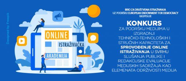Poziv medijima za učešće u Online istraživačkoj akademiji